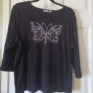 Beautiful butterfly top